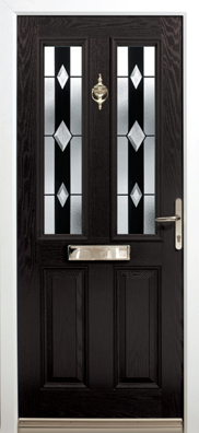 Altmore-Ebony-Diamond Composite Door